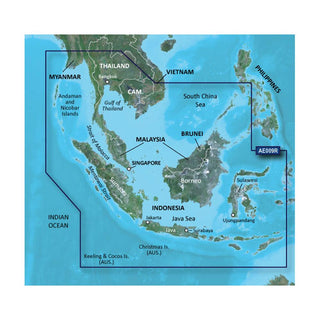 Garmin BlueChart® g2 HD - HXAE009R - Singapore - Malaysia - Indonesia - microSD™ - SD™
