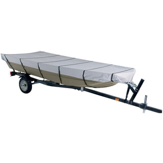 Dallas Manufacturing Co. 300D Jon Boat Cover - Model C - Fits 16' w-Beam Width to 75""