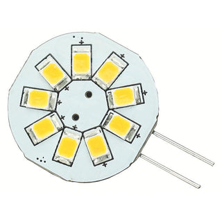 Lunasea G4 8 LED Side Pin Light Bulb - 12VAC or 10-30VDC-1.2W-123 Lumens - Warm White
