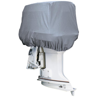 Attwood Road Ready™ Cotton Heavy-Duty Canvas Cover f-Outboard Motor Hood up to 25HP