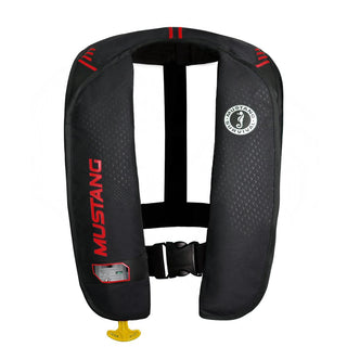 Mustang MIT 100 Inflatable Manual PFD - Black-Red