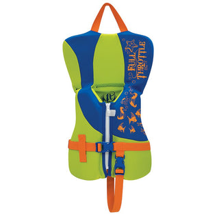 Full Throttle Rapid-Dry Life Vest - Infant Less Than 30lbs - Blue-Lime Green