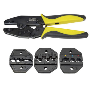 Klein Tools Ratcheting Crimper Kit w-Dies