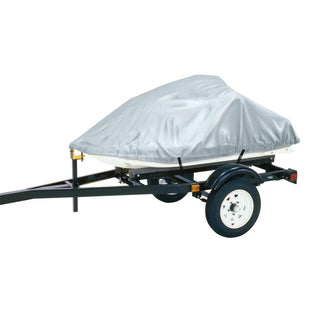 "Dallas Manufacturing Co. Polyester Personal Watercraft Cover A, Fits 2 Seater Model Up To 113""L x 48""W x 42""H - Silver"
