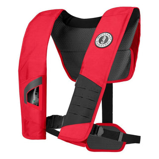 Mustang DLX 38 Deluxe Manual Inflatable PFD - Red-Black