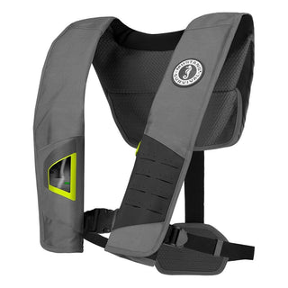 Mustang DLX 38 Deluxe Automatic Inflatable PFD - Gray-Fluorescent Yellow