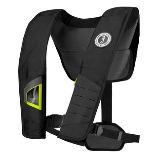 Mustang DLX 38 Deluxe Automatic Inflatable PFD - Black-Fluorescent Yellow-Green