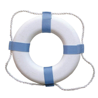 "Taylor Made Decorative Ring Buoy - 20"" - White-Blue - Not USCG Approved"