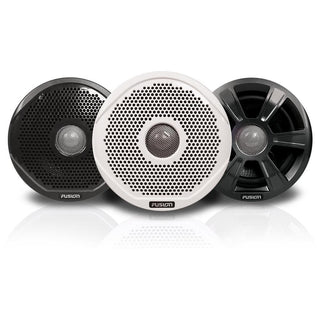 "FUSION FR6022 6"" Round 2-Way IPX65 Marine Speakers - 200W - (Pair) w-3 Speaker Grilles Provided"