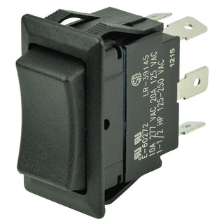 BEP DPDT Rocker Switch - 12V-24V - (ON)-OFF-(ON)