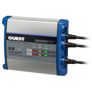 Guest On-Board Battery Charger 10A - 12V - 2 Bank - 120V Input