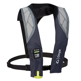Onyx A-24 In-Sight Automatic Inflatable Life Jacket - Grey