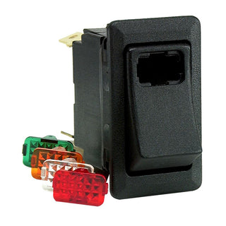 Cole Hersee Lighted Rocker Switch SPST On-Off 3 Blade
