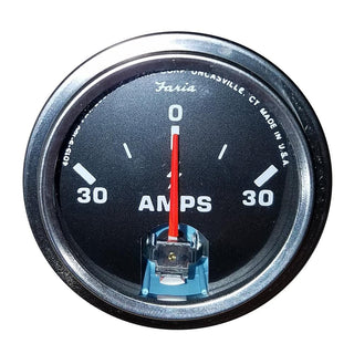 "Faria 2"" Amp Gauge - Chesapeake Black w-Stainless Steel Bezel"