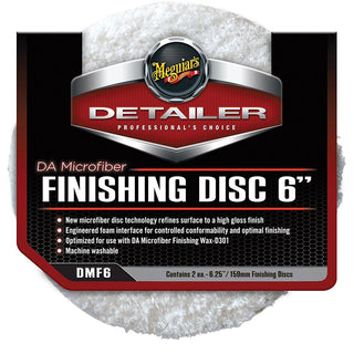 "Meguiar's DA Microfiber Finishing Disc - 6"" - 2-Pack"