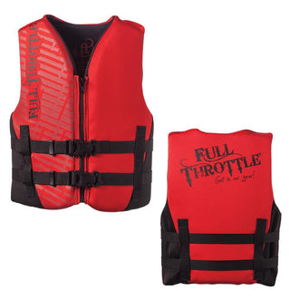 Full Throttle Rapid-Dry Life Vest - Youth 50-90lbs - Red-Black