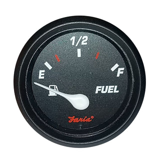 "Faria 2"" Fuel Level Gauge Metric Professional Red"