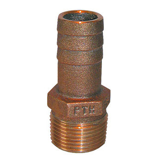 "GROCO 1-1-4"" NPT x 1-1-8"" ID Bronze Pipe to Hose Straight Fitting"
