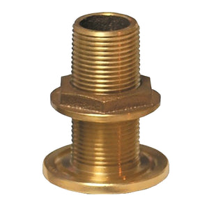 "GROCO 1-1-4"" NPS NPT Combo Bronze Thru-Hull Fitting w-Nut"