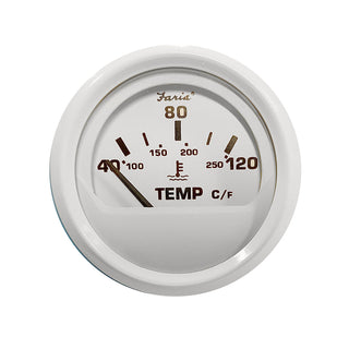 "Faria 2"" Water Temp Gauge (40 - 120C) Metric - Dress White"