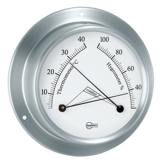 "BARIGO Sky Series Ship's Comfortmeter - Brushed Stainless Steel Housing - 3.3"" Dial"