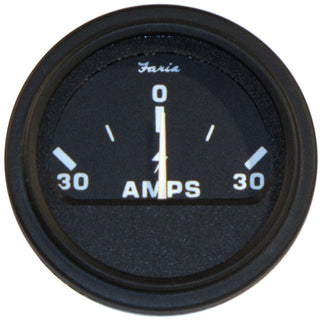 "Faria 2"" Heavy-Duty Ammeter (30-0-30) - Black"