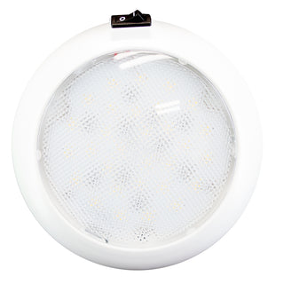 "Innovative Lighting 5.5"" Round Dome Light - White LED w-Switch - White Housing"