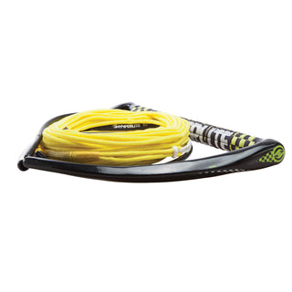 "Hyperlite 75' Rope w-Chamois Handle Fuse Mainline Combo - Yellow - 5 Section - 15"" Handle"