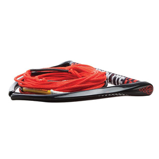 "Hyperlite 75' Rope w-Chamois Handle Fuse Mainline Combo - Red - 5 Section - 15"" Handle"