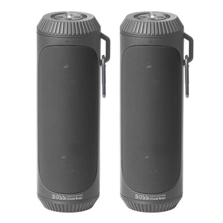 Boss Audio Bolt Marine Bluetooth® Portable Speaker System with Flashlight - Pair - Grey