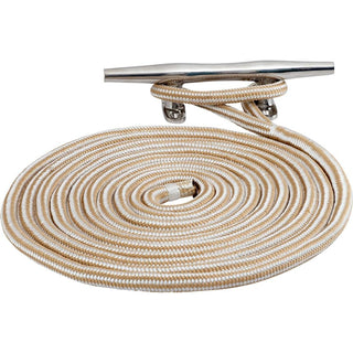 "Sea-Dog Double Braided Nylon Dock Line - 5-8"" x 15' - Gold-White w-Tracer"