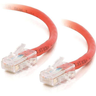 C2G-14ft Cat5e Non-Booted Crossover Unshielded (UTP) Network Patch Cable - Red