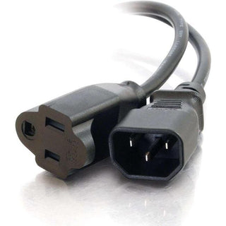 C2G 6ft 18 AWG Monitor Power Adapter Cord (IEC320C14 to NEMA 5-15R)