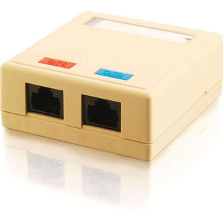 C2G 2-Port Cat5E Surface Mount Box - Ivory