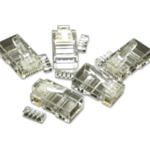 C2G RJ45 Cat5E Modular Plug (with Load Bar) for Round Solid-Stranded Cable - 50pk