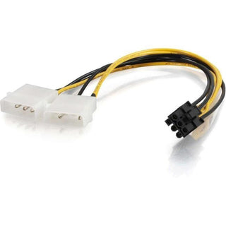 C2G 10in One 6-pin PCI Express to Two 4-pin Molex Power Adapter Cable