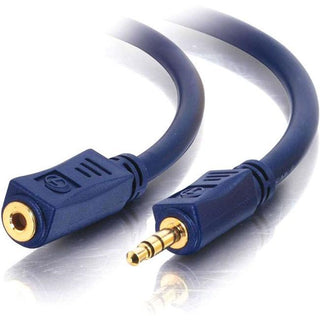 C2G 3ft Velocity 3.5mm M-F Stereo Audio Extension Cable