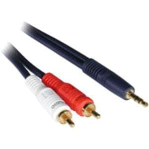 C2G 1.5ft Velocity One 3.5mm Stereo Male to Two RCA Stereo Male Y-Cable
