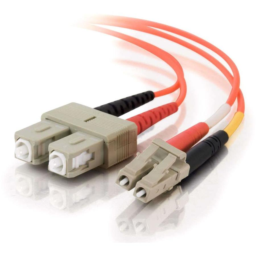 C2G-10m LC-SC 62.5-125 OM1 Duplex Multimode Fiber Optic Cable (Plenum-Rated) - Orange