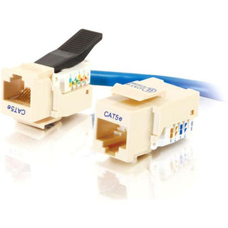 C2G Cat5E RJ45 UTP Toolless Keystone Jack - Ivory