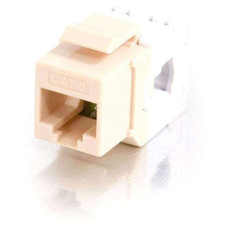 C2G 180 Degree Cat6 RJ45 UTP Keystone Jack - Ivory