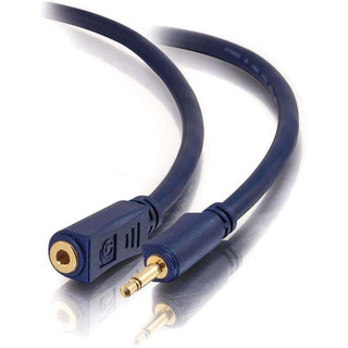 C2G 25ft Velocity 3.5mm M-F Mono Audio Extension Cable