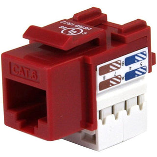 StarTech.com 110 Punch Type Category 6 Keystone Jack - Red