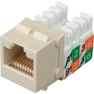 Black Box CAT5e Keystone Jack - Unshielded, Ivory