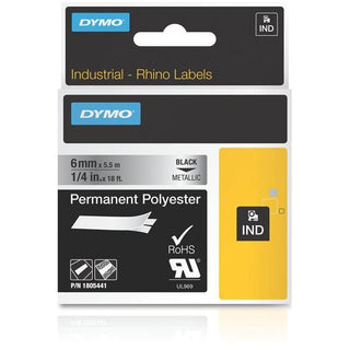 "Dymo 1-4"" Permanent Polyester Tape for Industrial Purposes"