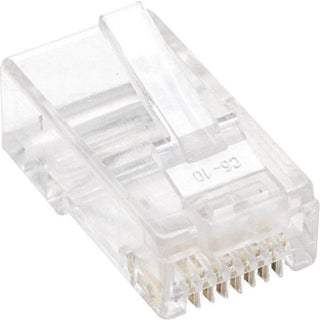 Intellinet Network Solutions Cat5e RJ45 Modular Plugs, 3-Prong, UTP, For Solid Wire, 100 Plugs in Jar