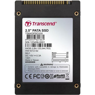"Transcend PSD330 64 GB Solid State Drive - 2.5"" Internal - IDE"