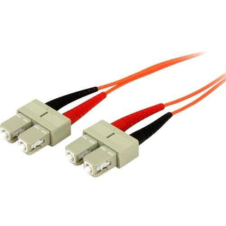 StarTech.com 2m Fiber Optic Cable - Multimode Duplex 50-125 - OFNP Plenum - SC-SC - OM2 - SC to SC Fiber Patch Cable