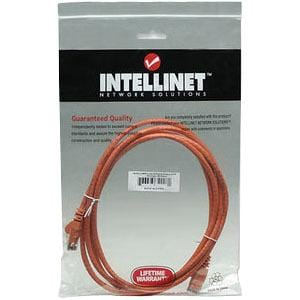 Intellinet Network Solutions Cat6 UTP Network Patch Cable, 10 ft (3.0 m), Orange