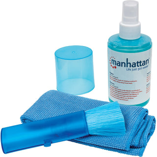 Manhattan LCD Cleaning Kit (6.75 ounces) with Microfiber Cloth and Retractable Brush